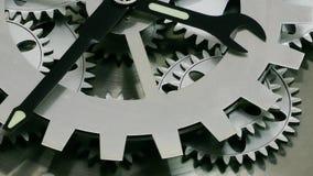 Rusty Retro Mechanic Clock Gears stock video footage
