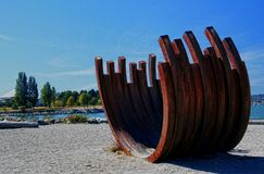 Rusty Ribs Sunset Beach Vancouver BC Royalty Free Stock Photography