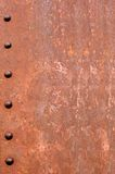Rusty Riveted Steel Background Royalty Free Stock Photos