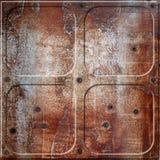 Rusty rivets plate Stock Image
