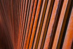 Rusty rods down deep Royalty Free Stock Photo