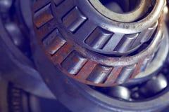 Rusty roller bearing metal texture.  Royalty Free Stock Photos