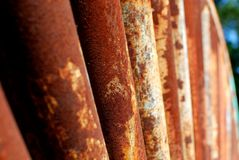 Rusty Rollers Royaltyfria Bilder
