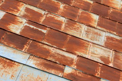 Rusty roof plates Royalty Free Stock Image