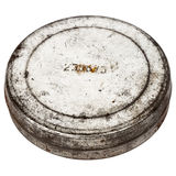 Rusty round metal plate Royalty Free Stock Image