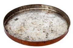Rusty round metal plate Stock Photo