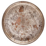 Rusty round metal plate Stock Image