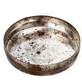Rusty round metal plate Royalty Free Stock Photography