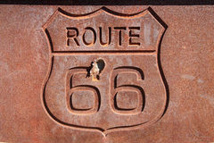 Rusty route 66 sign Royalty Free Stock Photos