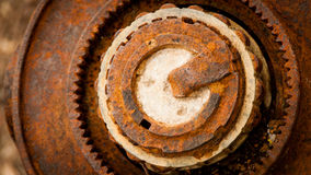 Rusty Ruined Steel Circles Royaltyfri Bild