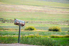 Rusty, Rural Mailbox Royalty Free Stock Photography