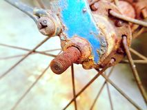 Rusty. Rust bicycle nute Royalty Free Stock Image