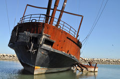 Rusty sailing ship Royalty Free Stock Photos