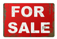 Rusty for sale sign Stock Images