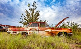 Free Rusty Salvage Yard Car Royalty Free Stock Images - 101312019