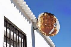 Rusty satellite antenna Stock Photo
