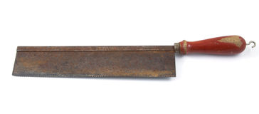 Rusty saw Royalty Free Stock Photo