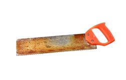 Rusty saw Royalty Free Stock Image