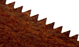 Rusty Saw blade. A rusty saw blade isolated Stock Photo