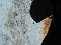 Rusty saw tooth. A rusty saw tooth background Stock Images
