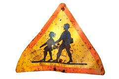 Rusty school sign royalty free illustration