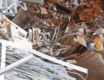 Rusty scrap. Metal in a junkyard royalty free stock photo