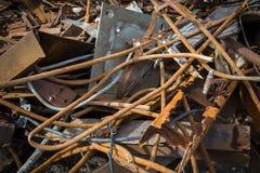 Rusty Scrap 03. Rusty metal scrap thrown in a pile Stock Photography