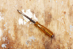 Rusty screw driver Royalty Free Stock Photos