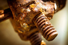 Rusty screw and nut Stock Photos
