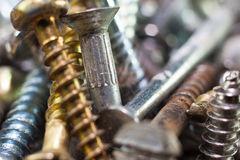 Rusty screws Stock Image