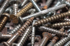 Rusty screws Royalty Free Stock Photo