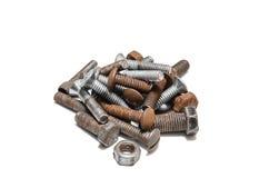 Rusty screws Royalty Free Stock Photo