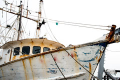 Rusty Scupper Boat Images libres de droits