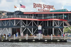 Rusty Scupper Restaurant & Bar at the Inner Harbor in Baltimore, Maryland Stock Photography