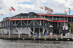Rusty Scupper Restaurant & Bar at the Inner Harbor in Baltimore, Maryland stock images