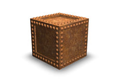 Rusty Security Container. 3D Illustration Stock Photo