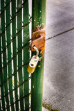 Rusty security gate open Royalty Free Stock Photography