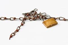 Rusty security lock Stock Photography