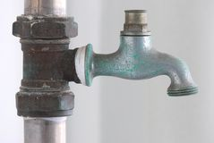 Rusty Service Tap Royalty Free Stock Photo