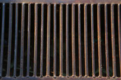 Rusty sewer drain Royalty Free Stock Images