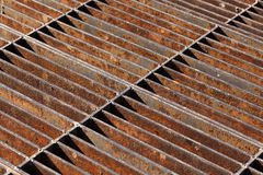 Rusty sewer grate Royalty Free Stock Photos