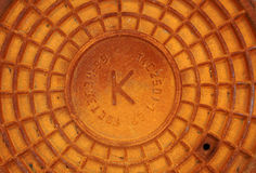 Rusty sewer hatch Royalty Free Stock Images
