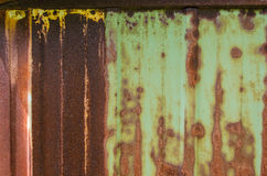 Rusty Shed Wall. The rusted side of a metal shed Stock Photography