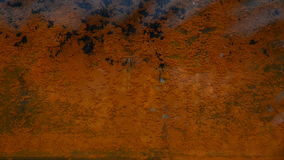 Rusty sheet of metal in the water. stock footage