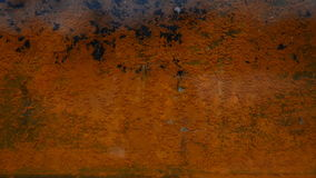 Rusty sheet of metal in the water. Rusty metal sheet in water. Baking poor quality began to rust. At its bottom, under a thin layer of water, we write the word stock video