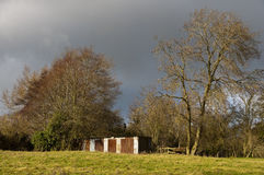Rusty shelter in the countryside Stock Photography