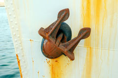 Rusty ship anchor. Stock Photos