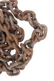Rusty ship chain Stock Image