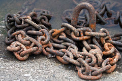 Rusty ship chain Stock Photography