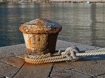 Rusty ship mooring stock photo